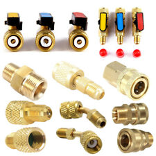 R410A Brass Refrigerant Adapter Male Female Charging Hose Quick Release Adapter
