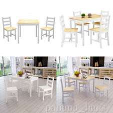 Panana Solid Pine Wood Dining Table With 2 / 4 Chairs Set Kitchen Home Furniture
