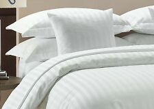 1000 TC White Striped-Duvet/Fitted/Sheet Set/Pillow Egyptian Cotton All Size