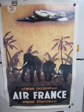 Air France Airline Africa Travel Poster