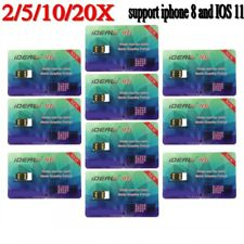 Lot iDeal Unlock Turbo Sim Card for All iPhone 8 6S 6 Plus+ 5 5S 5C iOS 11