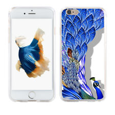 Luxury Peacock Phone Case Cover for iPhone 8  Samsung Galaxy S8 S8 Plus Sweet