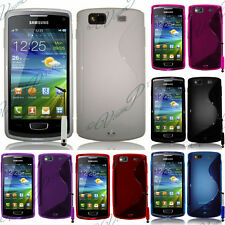 Case Cover TPU Silicone GEL Soft S Wave Samsung Wave 3 S8600 + Film