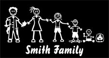 Stick Figure My Family & Pet Dog Cat Sticker for Car Window Bumper Vinyl Decal