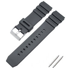 16 18 20 22mm Men Sport Silicone Rubber Watch Band For Casio Watch Strap Bands