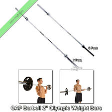 "Olympic Weight Lifting Bar CAP Barbell 2"" Strength Training Pull Up Bars 6 or 7'"