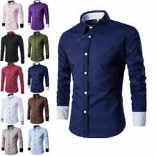 Luxury Mens Stylish Long Sleeve Slim Fit Casual Dress Shirt Fashion T-Shirts w