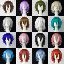 Men Women Heat Resistant Short Straight Anime Cosplay Party Wig Sexy Costume bbf