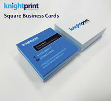 Square Printed Business Cards - Laminated - Full Colour - 350gsm silk - bus card