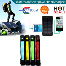 20000mah Solar charger Portable Power Bank USB Charger LED light Camp Compass
