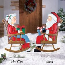 Mr & Mrs Claus Rocking Chair Santa Christmas Holiday Decoration Yard Stakes