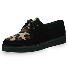 NEW WOMENS LACE UP FUNKY PLATFORM WEDGE FLAT HEEL LADIES CREEPERS SHOES SIZE 3-8