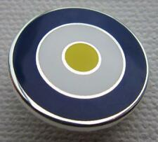 MOD TARGET BADGE - LEEDS UNITED COLOURS 12 16 OR 20MM DIA