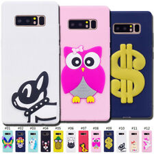 Cute 3D Silicone TPU Fashion Skin Back Cover Soft Case For Samsung Galaxy Note 8