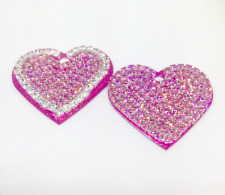 Rhinestone Engravable Personalized Dog Pet Cat~Diamonds / Pink Heart ID Tag US