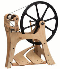 Schacht FLATIRON Saxony Spinning Wheel - Double Treadle - Right or Left Flyer