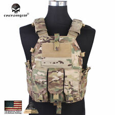 Emerson Tactical Vest Plate Carrier Body Armor 094K Camo Army Paintball Duty