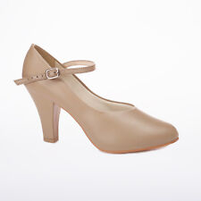 """So Danca CH53 3"""" Buckle Strap Character Shoe Tan Adult Sizes"""