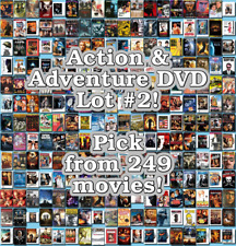 Action & Adventure DVD Lot #2: 249 Movies to Pick From! Buy Multiple And Save!
