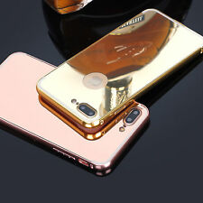 For iPhone 5 6/6s/7 plus Shockproof Aluminum Hard back Case Cover Mirror Luxury