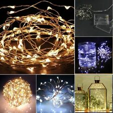 2M 20 LEDS Silver Copper Wire LED Starry Lights String Fairy Battery Powered