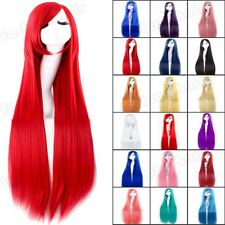 Cosplay Wig With Bangs Long Curly Straight Costume Wig Halloween Women Party @F1