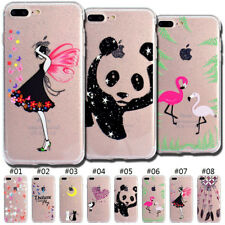 Rubber TPU Gel Silicone Glitter Soft Case Back Protective Cover For Apple iPhone