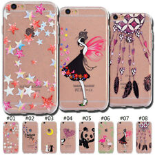 TPU Silicone Case Rubber Soft Back Skin Glitter Cover For Apple iPhone 6S Plus