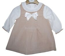 Girls Spanish Romany Ivory/Camel Baby Cord 2 Piece Pinafore Set 3-24 Months