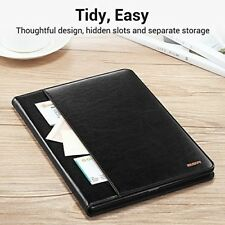 iPad Case 9.7 Inch 2017 Leather Luxury Magnetic Smart Cover Stand Pencil Holder