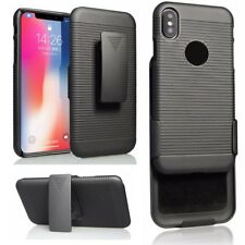 For Apple iPhone 10 X Protective Holster Belt Clip Case Cover +Stand Accessory