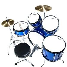 Kids Drum Set Throne Cymbal Bass Pedal Drumsticks Musical Instrument Toy For Boy