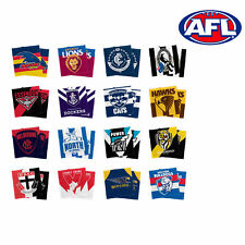 Official AFL Team Face Towel Washer - Set of 2 BNWT 30 x 30cm