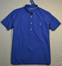 NWT MENS POLO RALPH LAUREN INDIGO CHMBRY BUTTON HENLEY SHORT SLEEVE SHIRT L, XL