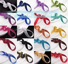 "10 yards 3/8"" 10mm Flocked Sparkle Glitter Velvet Ribbon Bows Sew Trims Crafts"