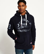 New Mens Superdry Trackster Vintage Winter Hoodie Truest Navy