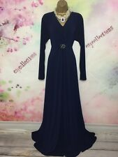 NAVY BLUE  FULL LENGTH MAXI OCCASION DRESS SIZE 26-28 WEDDING/PROM/BALL/CRUISE