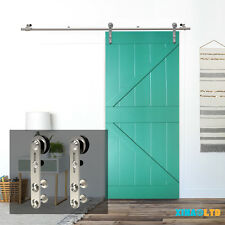 4-16FT Stainless Steel Sliding Barn Wood Door Hardware Closet Kit Single/Double