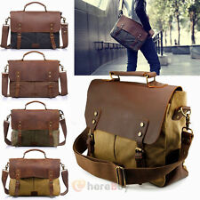 Men's Vintage Style  Canvas Shoulder Casual School Military Messenger Travel Bag