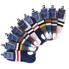 10 Pairs Summer Mens Ankle Socks Sport Cotton Blend Color Low Cut Casual Socks