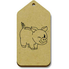 'Winking Piggybank' Gift / Luggage Tags (Pack of 10) (vTG0016536)