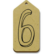 'Number Six' Gift / Luggage Tags (Pack of 10) (vTG0016407)