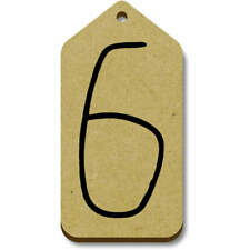 'Number Six' Gift / Luggage Tags (Pack of 10) (vTG0016275)