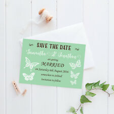 Personalised Save the Date Cards - 'Celebration' Butterflies inc envelopes