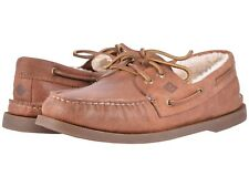 NEW Mens SPERRY TOP-SIDER Tan Leather A/O Authentic Original Winter Boat Shoes
