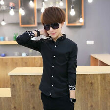 Men's Shirts Korean styles cotton shirt Slim fit Casual Long sleeved