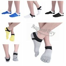 5 Pairs Mens Womens five finger toe Cotton Low Cut Socks Ankle Casual Sports New