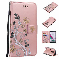 Luxury Butterfly Leather Case Flip Card Wallet Stand Pouch Cover For LG G3/G4/G5