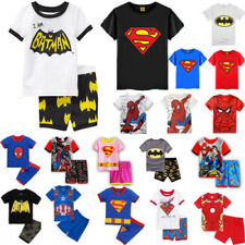 Kid Boy Girl Superhero Clothes Casual T-shirt Shorts Pants Outfits Pajamas Set