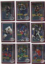 2002-03 Topps Chrome NHL Hockey Base/Rookie Cards U-Pick (Drop Down List) RC